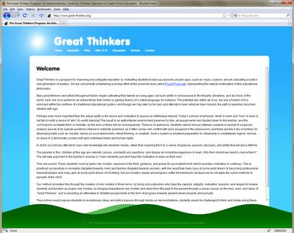 The Great Thinkers Program