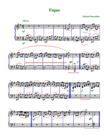 Fugue (Sonata in E, Movement 3)